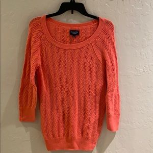 American Eagle Outfitters Peach Knit Sweater
